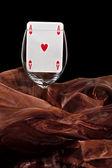 Carta da gioco in vetro — Foto Stock