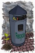 Illustration garbage bin — Stock Photo