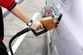 Fuel-filled in gas station — Stock Photo