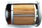 Die cut Fuel filter for engine car — Stock Photo