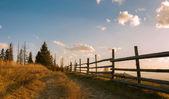 Кантри-роуд в горах — Стоковое фото