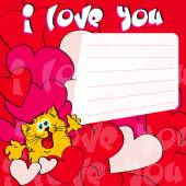 Greeting card I love you — Stock Vector