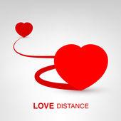 Love Distance — Stockvector