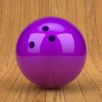 Purple bowling ball — Stock Photo #68363771