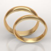 Wedding golden rings — Stock Photo