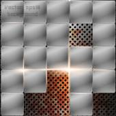 Industrial metal background — Stock Vector