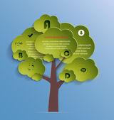 Eco  infographic template — Stock vektor