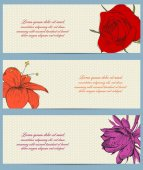 Set of flower brochure design — Vettoriale Stock
