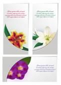 Set of flower brochure design — Cтоковый вектор