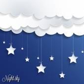 Noční obloha pozadí. — Stock vektor