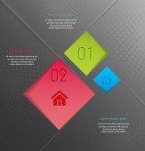 Abstract business inforgaphic — Stockvektor