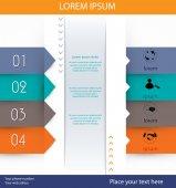 Modelo de design moderno — Vetor de Stock