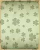 Vintage clover background — Vetor de Stock
