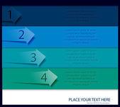 Infographics arrows design — Vetor de Stock