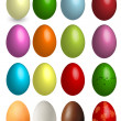 Set of colored Easter eggs — Stock Vector #70091157