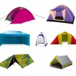 Set of tourist tents — Stock Vector #70091559