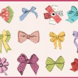 Set of vintage bows — Stock Vector #70091951