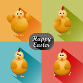Funny Easter card — Stockvektor