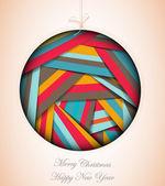 Abstract christmas ball — Stock Vector