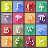 Set of currency icons — Stock Vector