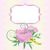 Greeting card, invitation, banner. — Stock Vector