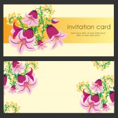 Invitation or card banner — Stock Vector