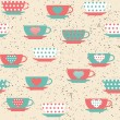 Seamless pattern with cups — Stock Vector #72133417