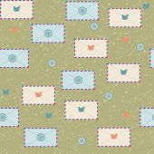 Seamless pattern with envelopes — Stock Vector