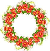 Greeting card with floral design — Cтоковый вектор