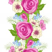 Seamless floral ornament. — Stock Vector
