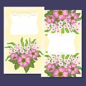 Greeting card. Floral design. — Stock Vector