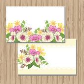Cartão de saudação. design floral. — Vetor de Stock