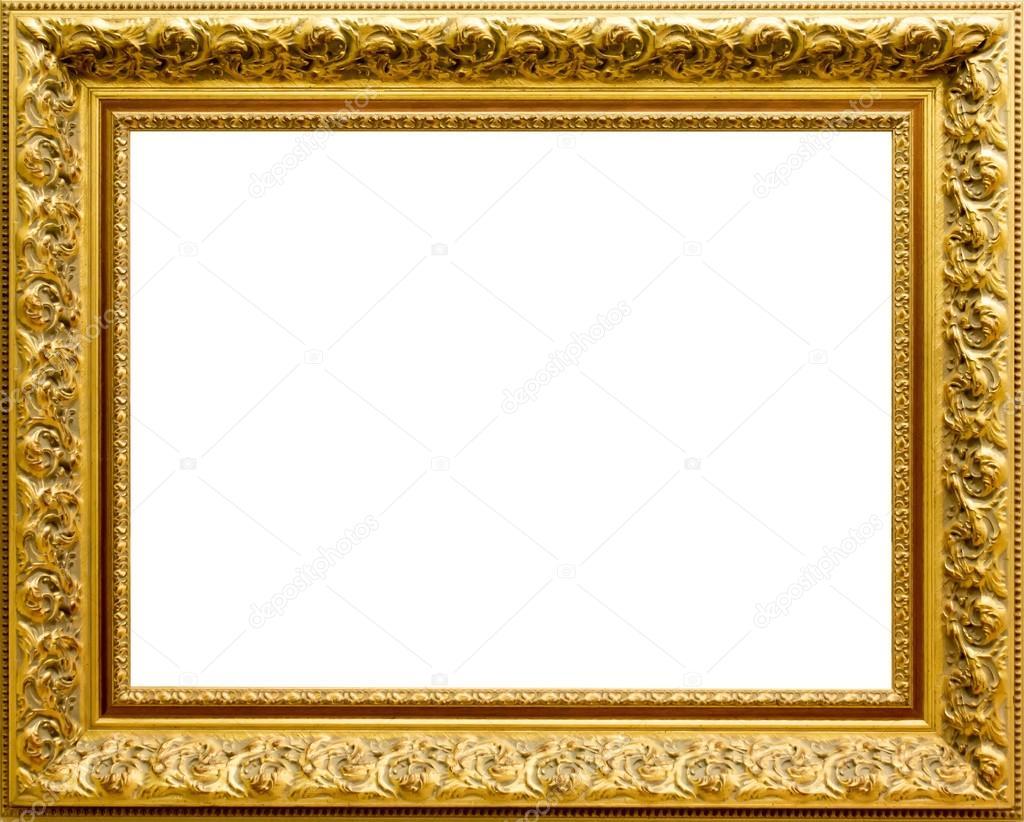 Hermoso marco dorado para cuadros y fotos foto de stock - Marco para cuadro ...