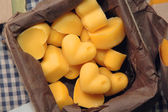 Handmade soap in the form of heart — Stock Photo