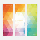 Collection of the 3 colorful web banners . Can be used for your design .Vector illustration — Stock Vector