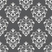 Seamless Texture wallpapers in the style of Baroque . Background of gray and white color . Can be used for backgrounds and page fill web design — Stock Vector