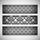 Collection horizontal banners in the style of Baroque . Modern Vector Illustration — Stockvector