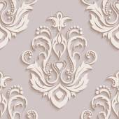 Seamless wallpapers in the style of Baroque . Can be used for backgrounds and page fill web design. Vector illustration — Vetor de Stock