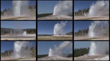 Multi Geyser — Stock Video