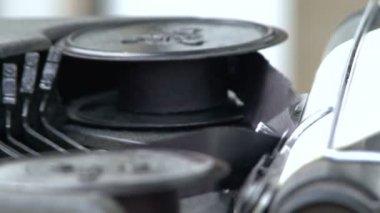 Work old typewriter — Vídeo stock