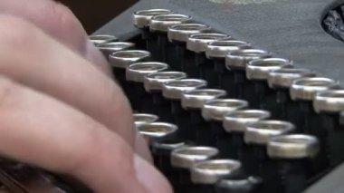 Work old typewriter — Stok video