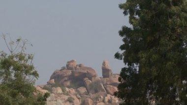 India Karnataka  Hampi. The ruins of Vijayanagara — Wideo stockowe