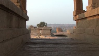 India Karnataka  Hampi. The ruins of Vijayanagara — Stock Video