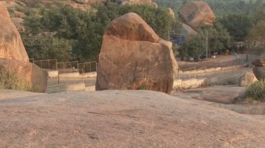 India Karnataka  Hampi. The ruins of Vijayanagara — Stock Video
