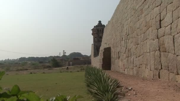 India Karnataka  Hampi. The ruins of Vijayanagara — Vídeo de stock
