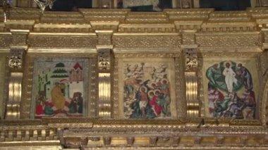Part of the iconostasis — Stock Video