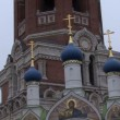 Domes and crosses on church Russia — Stock Video #69844621