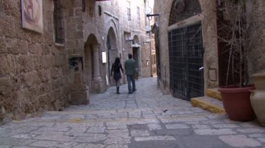 Jaffa. The streets of the old town — Stock Video