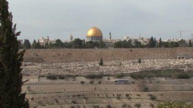Kidron Valley. Jerusalem. — Stock Video