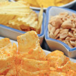 Potato Chips with other snacks — Stok fotoğraf #67143275